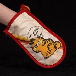 Vintage 1978 Garfield Pot holder Eat Without Guilt